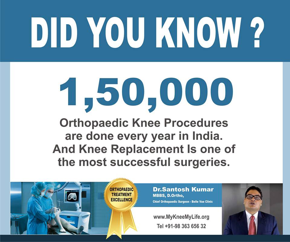 Knee Replacement Surgery by Dr  Santosh Kumar in Kolkata